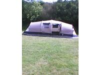 Gelert Horizon 6, plus porch and footprint. Two bedrooms and living area. Good condition.