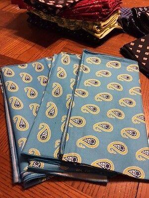 Vera Bradley Bermuda Blue Dinner Fabric Napkin New NWT paisley FREE -