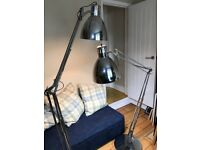 2 Large Anglepoise style metal floor lamps