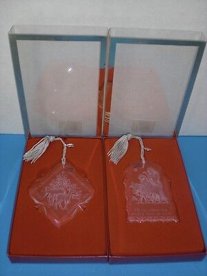 Gods Gift Ornaments ( NEW SET 2 Lenox Fine Crystal Ornaments Hope & Love Reindeer & Gods Gift 2000 )