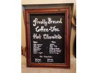 Large Wood Ornate Framed Chalkboard, Blackboard - For Kitchen, Dining room
