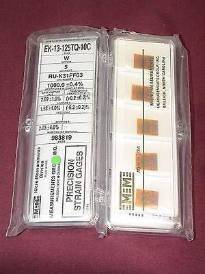 Vishay Micro Measurements Strain Gage Ek-13-125tq-10c 5 Pack Option W