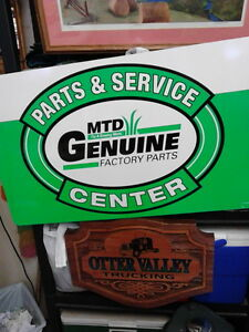 REDUCED TO $70.00 Vintage MTD Dealer Sign - New Old Stock