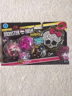 Monster High Minis #4 Toy Figure (3 Pack) New