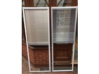 Vertical blinds for UPVC twin french doors in metallic grey, they clip onto the doors. 185cm x 64cm