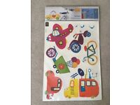 Boys transport wall decal stickers