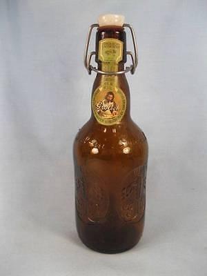 Grolsch Lager Brown Beer Bottle Vintage Swing Top Lid Porcelain Cap Holland (O)