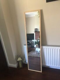 Tall Mirror - wood surround