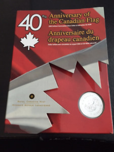 40th Anniversary of the Canadian Flag Silver Dollar Set