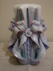 Large Decorative Carved Wax Candle Cathedral Twist, Cascading Kitchener / Waterloo Kitchener Area image 3