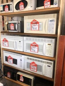 CLEARING OUT SEVERAL OVER THE RANGE MICROWAVES $75 EACH