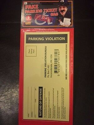 Fake Parking Tickets - Jokes, Gags and Pranks - Fake Parking Violations - Halloween Park Pranks