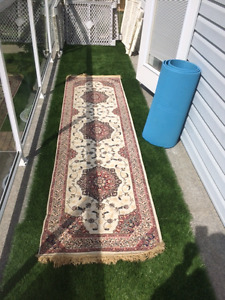 Runner & Under Pad (also free oval rug)