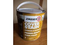 PAINT WHITE INTERIOR & EXTERIOR COVER STAIN PRIMER-SEALER made by ZINSSER
