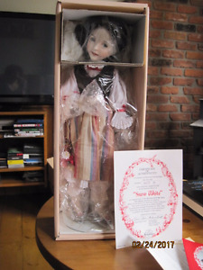 Snow White Porcelain Doll by artist Diana Effner