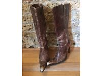 Vero Cuoio Brown Leather Boots / Made in Italy / Euro Size 38 / UK Size 5.5
