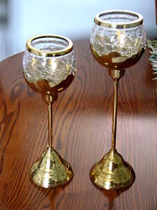 FOR SALE:  Set of two candle holders