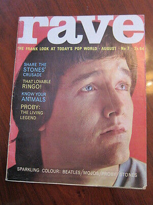 Rave #7 1964 PJ Proby Beatles Rolling Stones Yardbirds Patti Boyd fashion