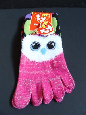 NWT TY Beanie Boos ARIA Owl Toe Socks Rainbow Boo Claire's E