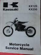 KAWASAKI KX125 ,  KX250 WORKSHOP SERVICE MANUAL c99-00 Dianella Stirling Area Preview