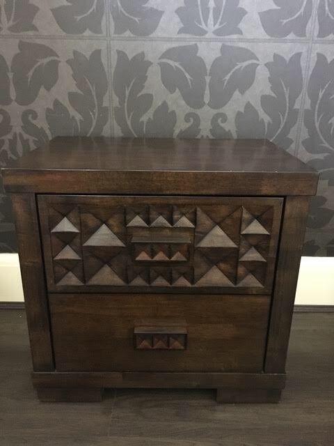 Gorgeous Side Table / Storage Unit | Solid Walnut |