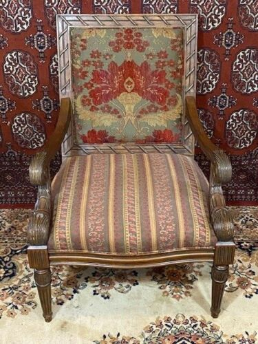 Antique French Inspired Victorian Library Parlor Chair