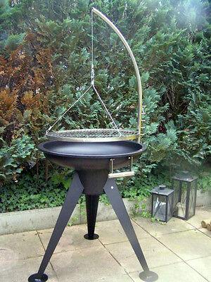 Schwenkgrill Grill Feuerschale 60 cm ~ 65 / Edelstahl 55 cm Grillrost Dreibein