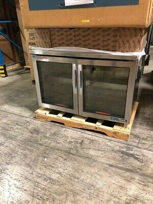 1064 True Tuc-48g-hcfgd01 48w Undercounter Refrigerator W 2 Sections 2 Drs