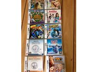 assortment of 10 Nintendo ds games