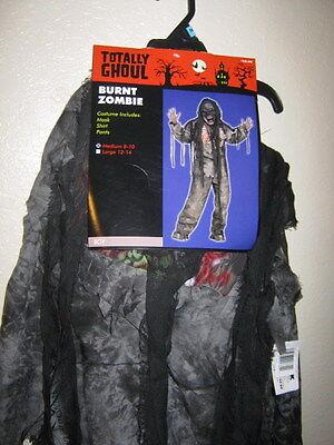 NWT, YOUTH BOY BURNT ZOMBIE, SIZE MEDIUM, - Burnt Zombie Kostüm