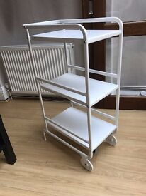 Trolley from Ikea SUNNERSTA white - very good condition