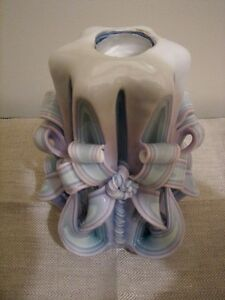 Large Decorative Carved Wax Candle Cathedral Twist, Cascading Kitchener / Waterloo Kitchener Area image 6