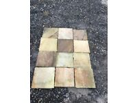 Indian Stone Paving in Mint Fossil Riven 51m2