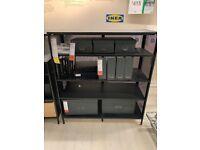 BEKANT Shelving unit, black or white, 121x134cm - IKEA Lakeside #bargaincorner
