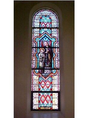 + Beautiful 9 window set of Church Stained Glass Windows + Shipping Available +