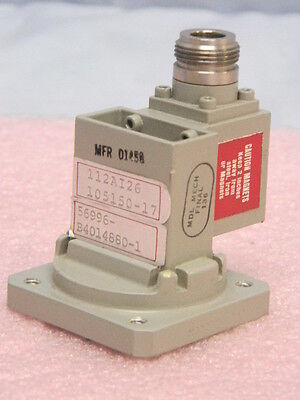 New Mdl Wr112 7.05 To 8.3-ghz Waveguide Adapter Temguide Isolator Cprg Type-n