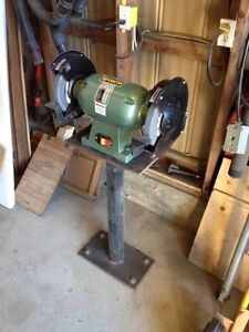 "1 hp dual wheel 10"" benck grinder with adjustable height stand"