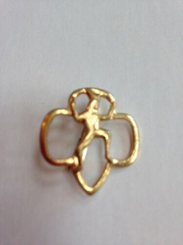 Girl Scout Brownie Vibntage Clover Pin/ Brooche