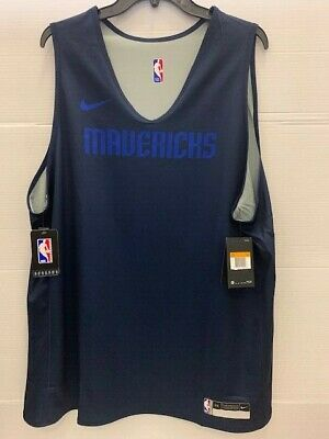 Nike NBA Dallas Mavericks Reversible Practice Jersey- Navy & Grey Men's XXL