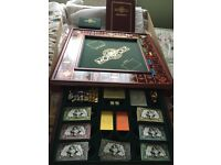 Franklin Mint Collectors Monopoly set with silver & gold pieces!