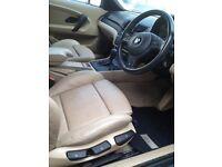 BMW 318 TI automatic 2004 (E46) black - full beige leather