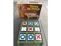 Vintage 1969 Toss Across Game By Ideal in Original Box
