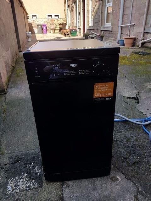 Bush DWSL145W Slimline Dishwasher - Black