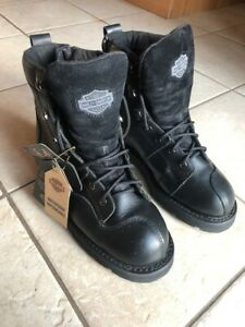 HARLEY MEN'S  Willie G Gore-Tex Leather Motorcycle Boots Sz. 8