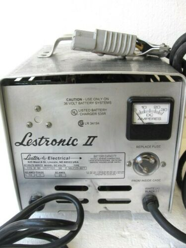 Lester Lestronic II 36V Automatic Battery Charger Mdl 07710 1 Phase