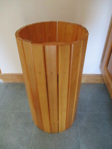Pine plant stand.