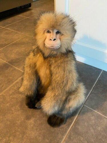 "Hansa Salem Monkey 12"" Plush With Tag"