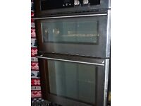 Stoves Gas built in Double Oven Stainless Steel 900 Good working order