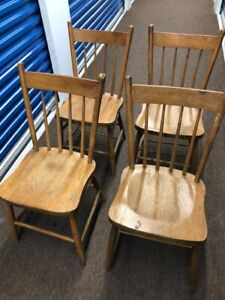 6 solid wood chairs for sale
