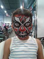 WESTLING MASKS Face Painting by FANTASTIC FACE & BODY ART